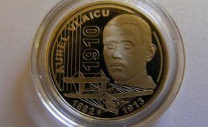BNR a emis o monedă cu portretul lui Aurel Vlaicu. S-au împlinit 100 de ani de la primul zbor românesc