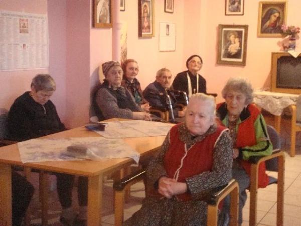 Ziua Bolnavului sărbătorită la  Căminului de bătrâni