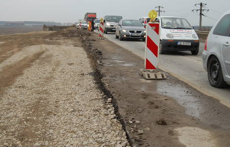 Primul tunel pe autostradă va fi construit pe Orăștie-Sibiu