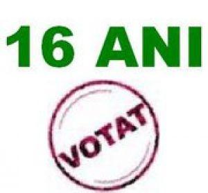 Drept de vot la 16 ani!?