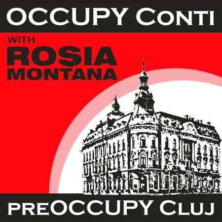 Protest pentru Roşia Montană la Cluj