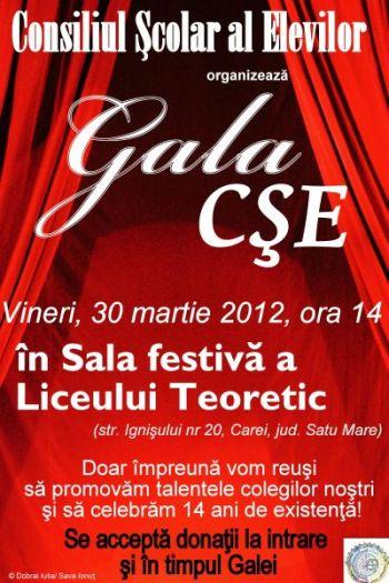 Gala Consiliului Elevilor de la Liceul Teoretic