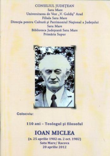 In memoria preotului şi filosofului Ioan Miclea