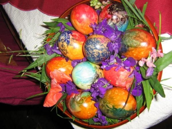 Tehnici de vopsit ouă de Paşti la Şcoala Generală nr.3