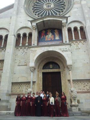 """Corul de Cameră  ,,Psalmodia Varadiensis""""  în Italia"""