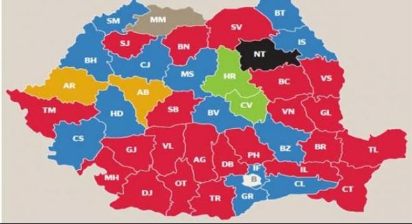 Cum s-a schimbat harta politică a României
