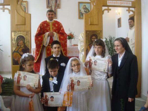 Prima împărtăşanie la Parohia Sf.Anton