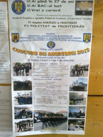 50 de locuri libere la Poliţia de Frontieră