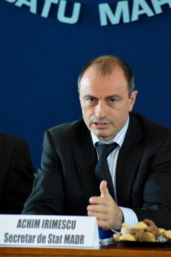 Secretarul de stat Irimescu susţine înfiinţarea depozitelor agricole in judeţ