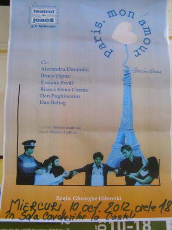 """Poftiţi la teatru: """"Paris, mon amour"""""""