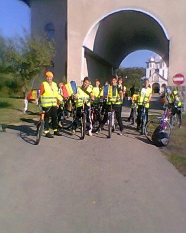Elevi in Pelerinaj ciclist