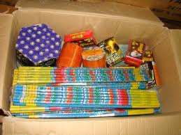 Materiale pirotehnice deţinute ilegal confiscate de poliţişti