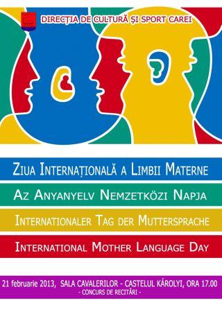 Concurs cu ocazia Zilei Internaţionale a Limbii Materne