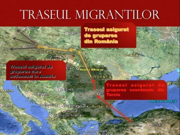 Grupare internaţională de trafic de migranţi