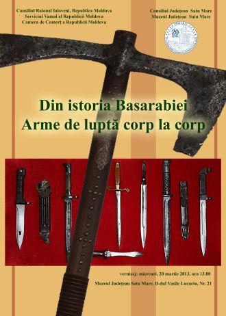 Arme de luptă corp la corp.Expoziţie