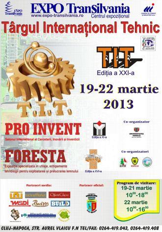 Târg Internaţional Tehnic şi Foresta la ExpoTransilvania