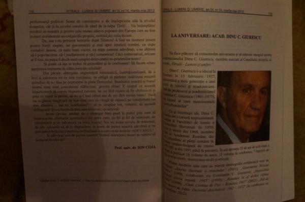 """Un nou număr al revistei """"Vitralii –lumini şi umbre"""""""