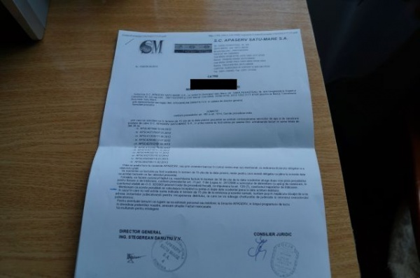 900 somaţii de plată pentru restanţieri la Apaserv