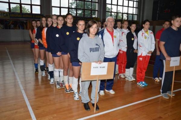 """Deschiderea """"Olimpiadei Naţionale a Sportului Şcolar"""" la  volei fete- licee"""