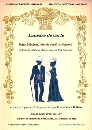 Lansare de carte la Caravana Culturii Sătmărene
