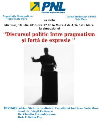 Discursul politic între pragmatism şi forţa de expresie