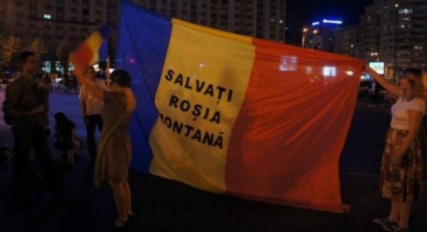 Roşia Montană: Zeci de persoane s-au adunat la Universitate, în a 17-a zi a proteste