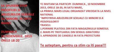 Marş împotriva pedofiliei