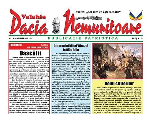 """""""Dacia nemuritoare"""" la al 3-lea număr"""
