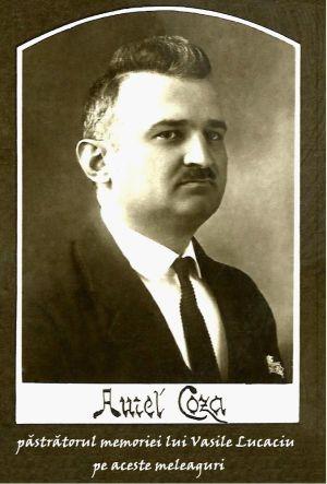 AUREL I. COZA, păstrătorul memoriei lui   Vasile Lucaciu pe aceste meleaguri,partea I