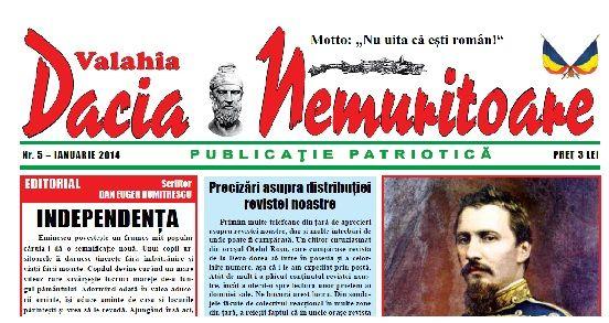 """""""Dacia Nemuritoare"""" la a cincea apariţie"""