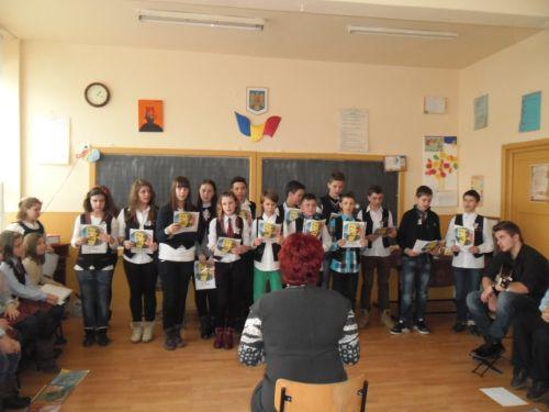 """Școala Gimnazială ,,Avram Iancu"""" Satu Mare primeşte  vizita  partenerilor de proiect de la Carei"""