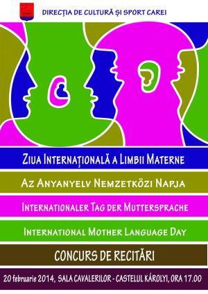 Concurs de recitări de Ziua Limbii Materne