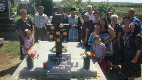 După 70 de ani,eroul Burada din Ianculeşti are cruce la căpătâi
