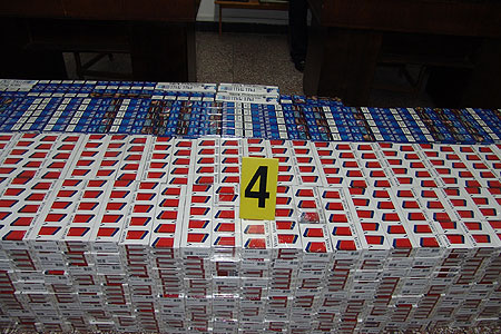 3 900 ţigarete confiscate şi un automarfar reţinut la  Biroul Vamal de Frontieră Halmeu