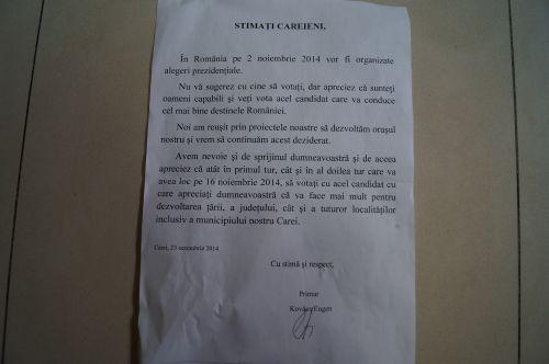 Eugen vs. Jeno. Scrisoare adresată careienilor în prag de alegeri
