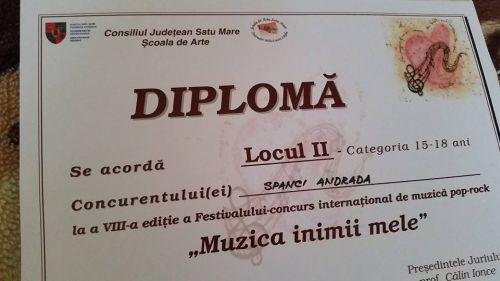 """Festivalul-concurs """"Muzica inimii mele"""" aduce un  premiu  pentru concurenta de la singurul Club al Elevilor din judeţ fără cerc de muzică uşoară"""