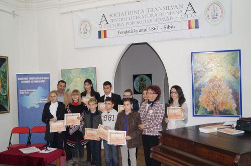 """Premianţii concursului Despărţământului Astra Carei, """"Comorile  României – măreţie  şi  putere"""""""