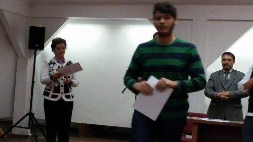Paul Tărîţă  de la Liceul Teoretic calificat la etapa naţională a sesiunii de Referate şi Comunicări