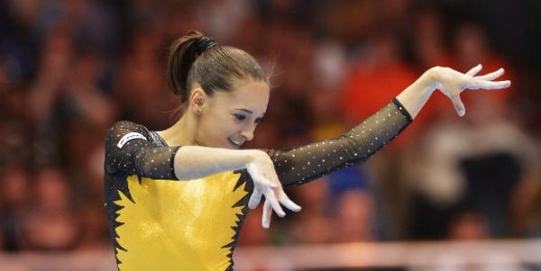 Larisa Iordache, aur la Cupa Mondială de gimnastică