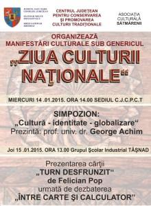Manifestările dedicate Zilei Culturii Nationale la Satu-Mare