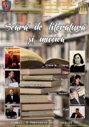Seară de literatură şi muzică  cu invitaţi bistriţeni