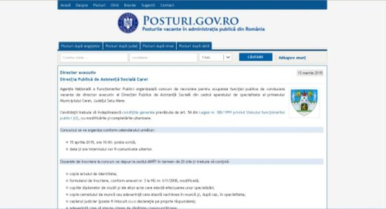 Post de director scos la concurs de Primăria Carei