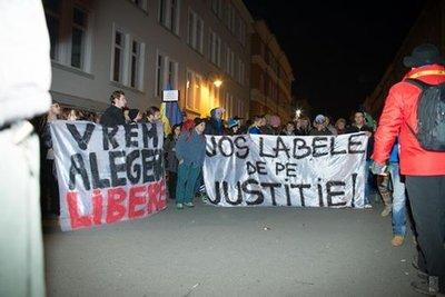 Proteste în Bucureşti şi în ţară