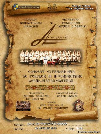 Corala ARMONIA în concert la Ardud