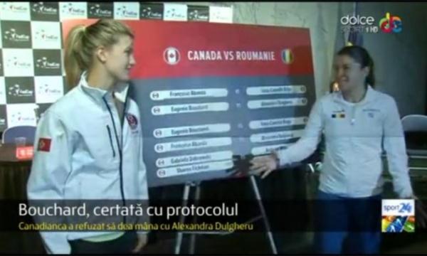 Gest ruşinos al primei jucătoare de tenis a Canadei