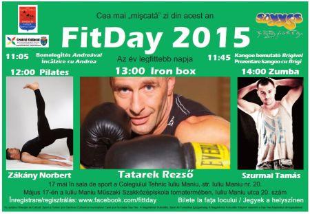 """Ziua """"Fitday 2015 – Cea mai mişcată  zi din an"""" la Carei"""