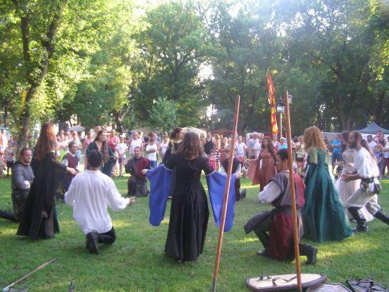 Festivalul Medieval de la Carei, la final. Actriţa Iulia Benze, pe scena de acasă