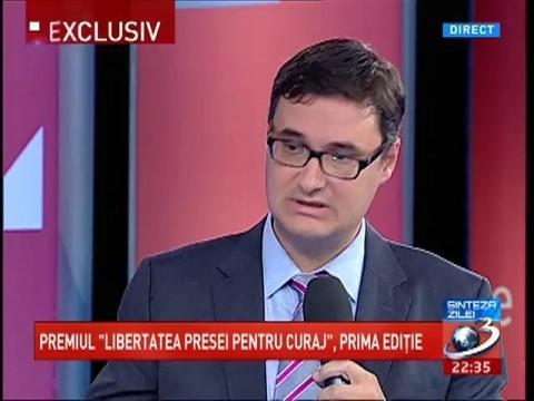 """Jurnalistul Dan Tanasă  câştigă  premiul """"Libertatea Presei pentru Curaj"""""""