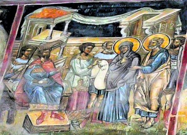 În România există singura frescă din lume cu Fecioara Maria însărcinată
