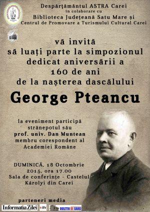 Simpozion dedicat dascălului George Pteancu la Carei